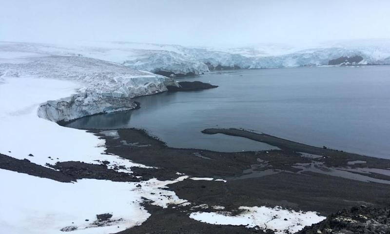 The Collins glacier on King George Island has retreated in the last 10 years and shows signs of fragility, in the Antarctic on 2 February.
