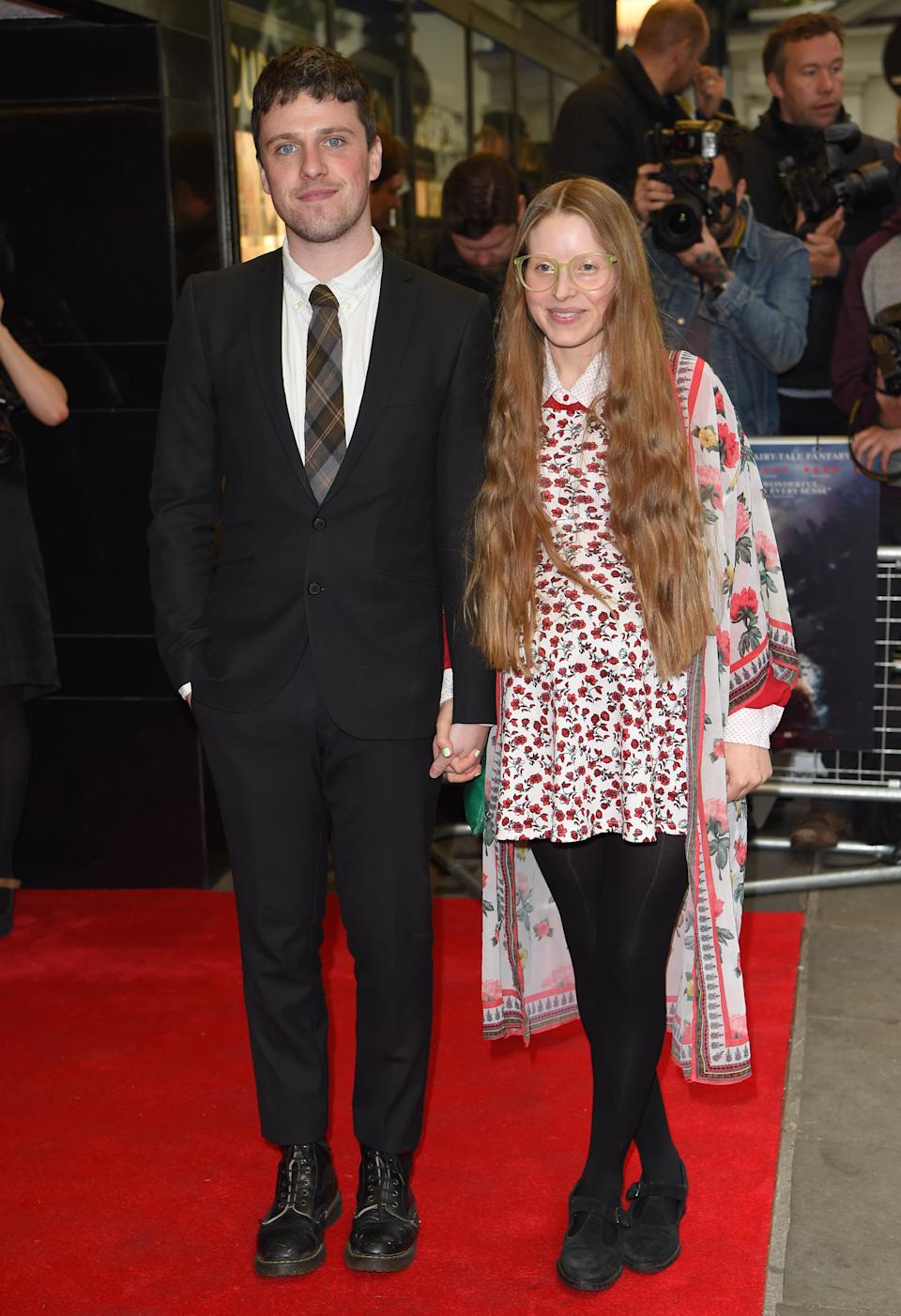 "Alfie Brown and Jessie Cave arrive for the UK Premiere of ""Tale Of Tales"" at The Curzon Mayfair on June 1, 2016 in London, England.  (Photo by Karwai Tang/WireImage)"