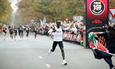 Eliud Kipchoge, the marathon world record holder from Kenya, attempts to run a marathon in under two hours in Vienna