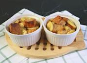 """<p>Like Georgia, Hawaii is searching for how to turn two favorite sweet treats into one with banana bread pudding. Have leftover <a href=""""https://www.thedailymeal.com/best-recipes/chocolate-chip-banana-bread-one-bowl?referrer=yahoo&category=beauty_food&include_utm=1&utm_medium=referral&utm_source=yahoo&utm_campaign=feed"""" rel=""""nofollow noopener"""" target=""""_blank"""" data-ylk=""""slk:banana bread"""" class=""""link rapid-noclick-resp"""">banana bread</a>? Banana bread pudding is one of <a href=""""https://www.thedailymeal.com/how-to-use-up-leftovers?referrer=yahoo&category=beauty_food&include_utm=1&utm_medium=referral&utm_source=yahoo&utm_campaign=feed"""" rel=""""nofollow noopener"""" target=""""_blank"""" data-ylk=""""slk:the best ways to use leftovers"""" class=""""link rapid-noclick-resp"""">the best ways to use leftovers</a>.</p>"""