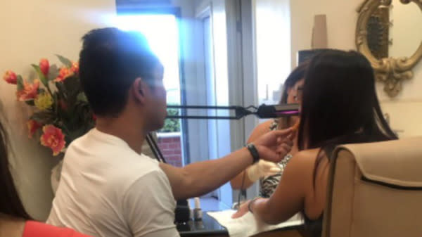 Best Boyfriend Ever Feeds His Girlfriend Chicken Nuggets While She Gets A Manicure