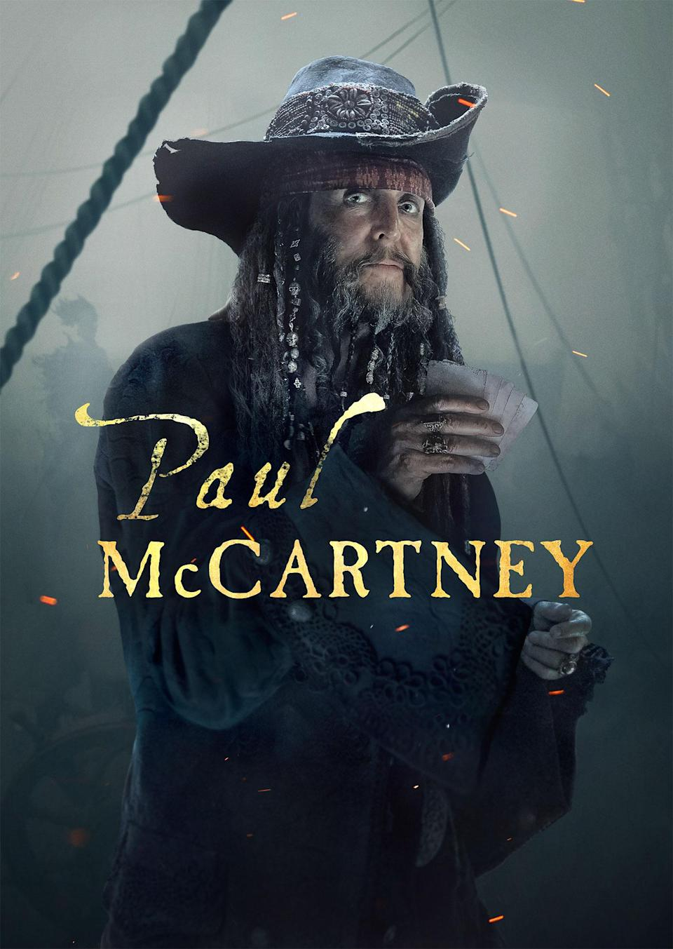 Paul McCartney shared his character poster on Twitter (Disney)