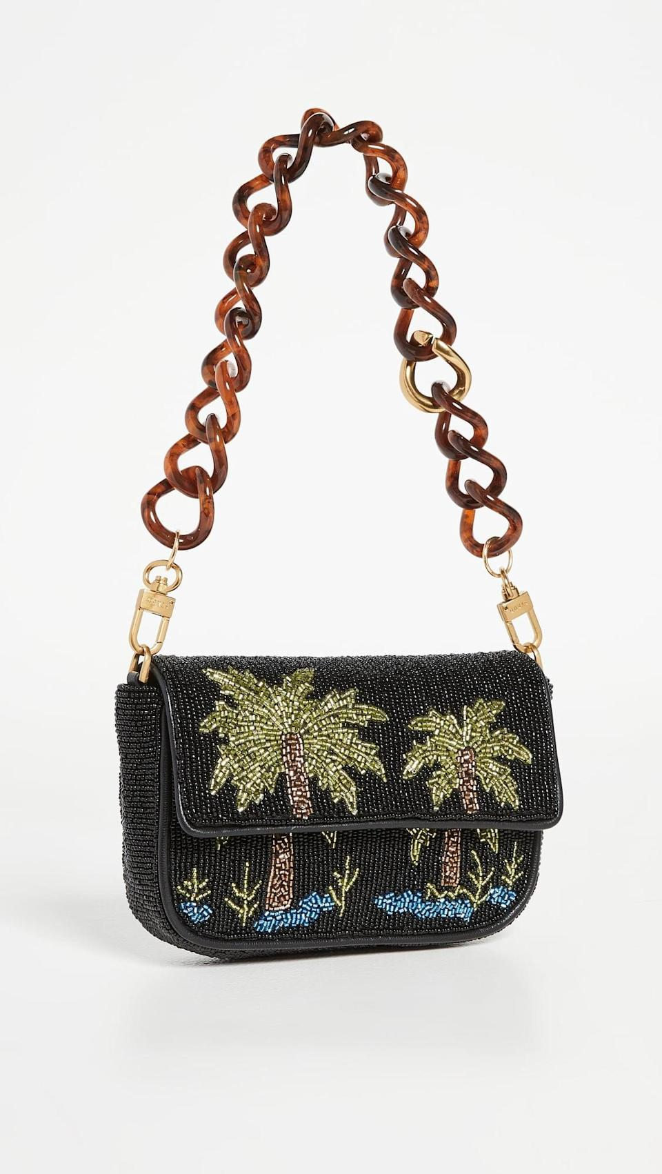 <p>This <span>Staud Beaded Mini Tommy Chain Bag</span> ($250) is so fun for a night out, and will bring some tropical vibes to any day of the year. Plus, it also comes with a leather crossbody strap, so it's convertible.</p>