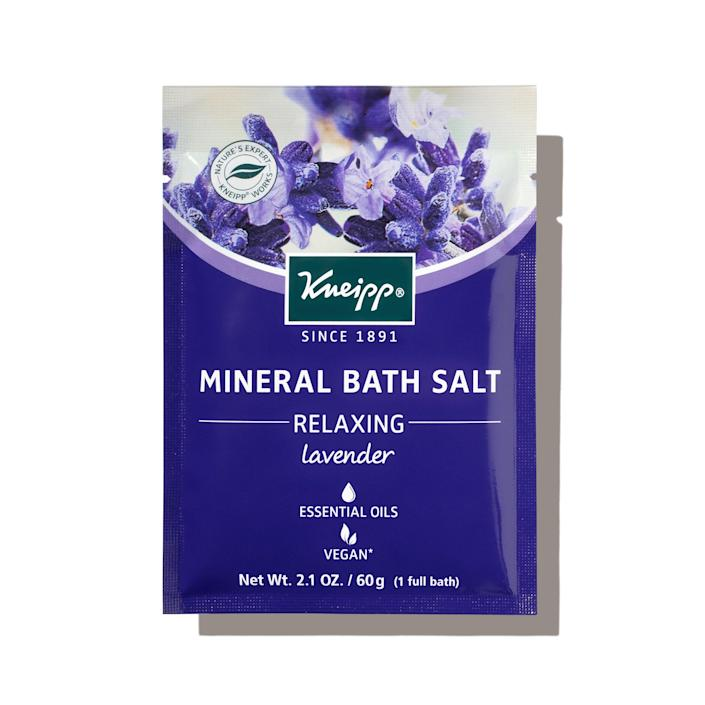 """Why you'll love it: These bath salts are deeply relaxing — so much so that they soothed one editors' achy muscles and the scent, reminiscent of lavender and eucalyptus, was so calming, she fell into bed and had the deepest sleep right after. How you'll use it: The pre-dosed packet in this month's Allure Beauty Box contains just the right amount of salts for one bath. """"The pretty candles and bath oils around my tub have been replaced by toy boats and rubber duckies, but I reclaimed my bathtub for one super relaxing night with these salts."""" — E.S. +Subscribe now+"""
