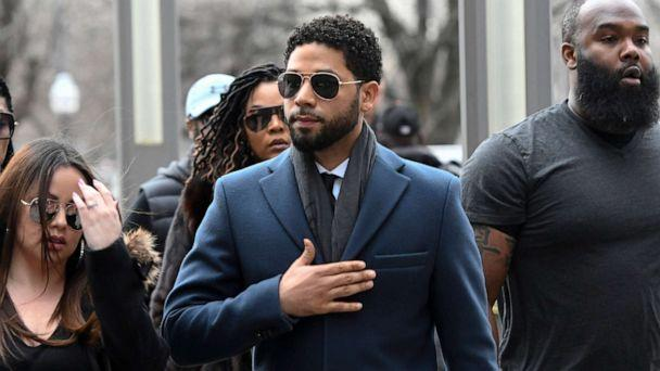 PHOTO: 'Empire' actor Jussie Smollett arrives at the Leighton Criminal Court Building for his hearing in Chicago, March 14, 2019. (Matt Marton/AP, FILE)