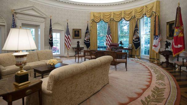 PHOTO: The newly renovated Oval Office of the White House, Aug. 22, 2017. (Carolyn Kaster/AP)