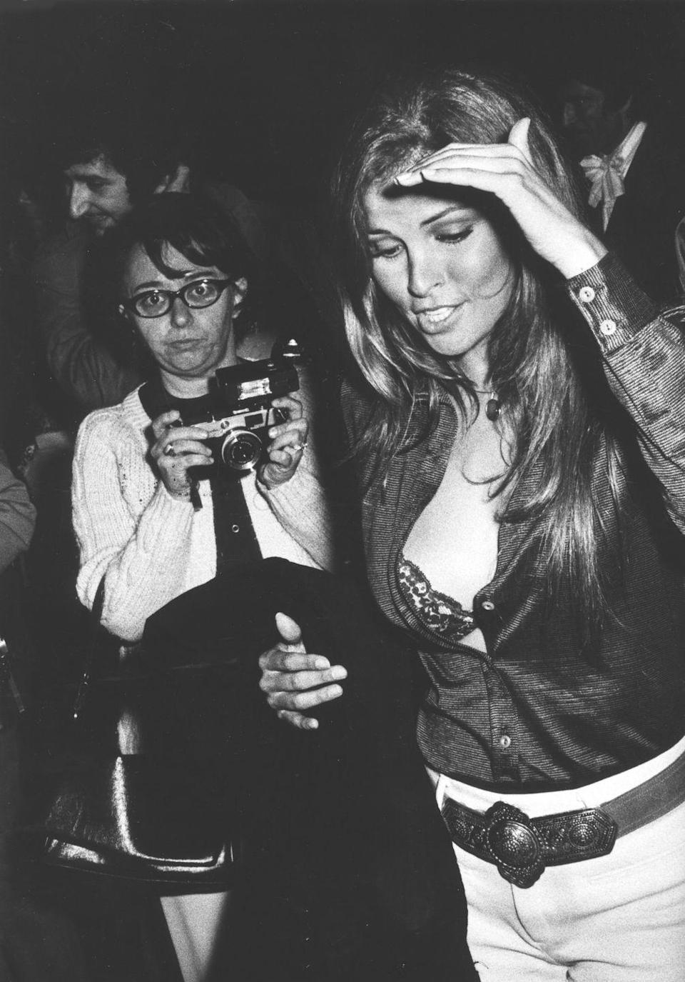 <p>Actress and singer Welch was photographed attending a Hollywood party in 1971. </p>