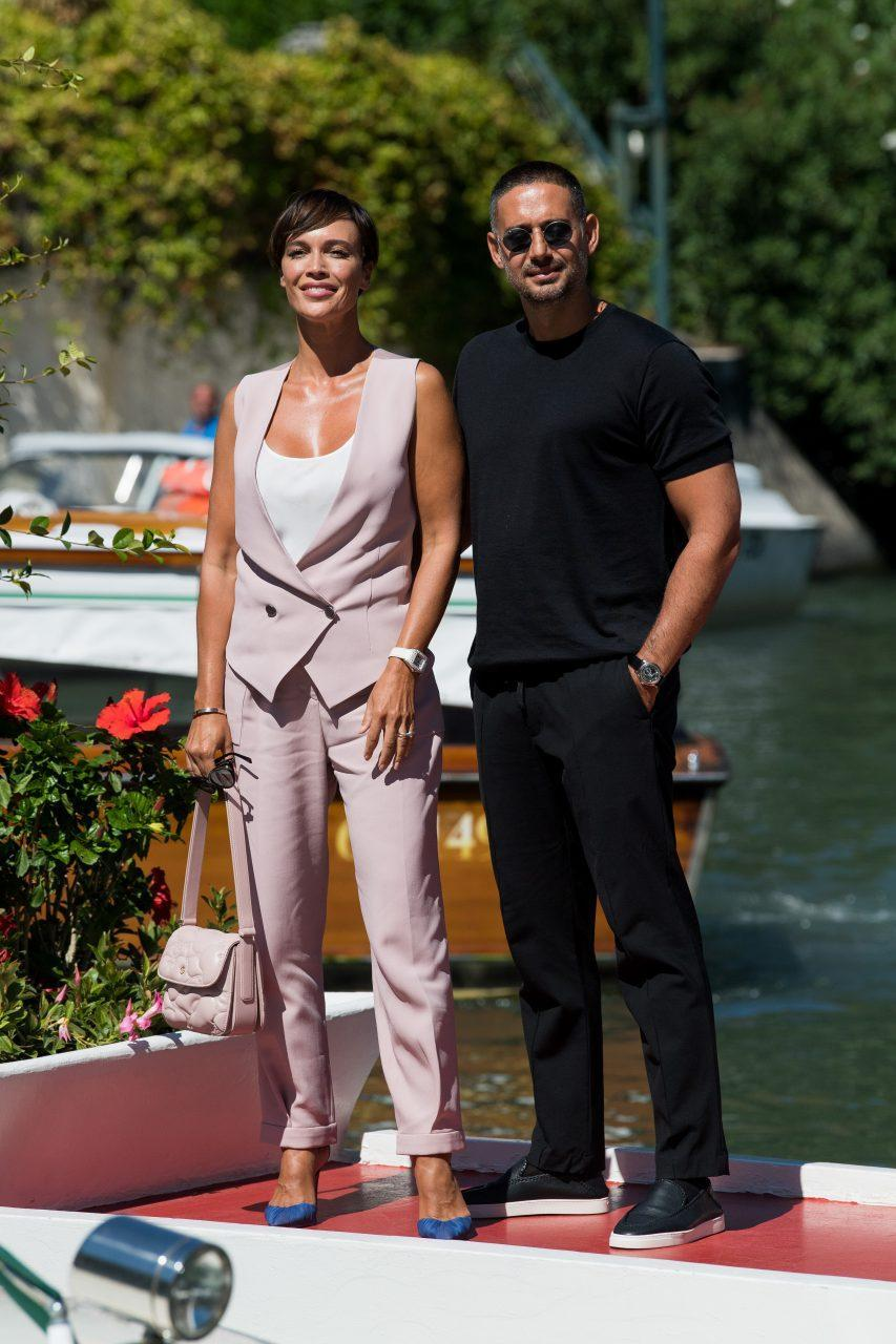 VENICE, ITALY - SEPTEMBER 01: Riccardo Di Pasquale and Riccardo Di Pasquale are seen arriving at the 78th Venice International Film Festival on September 01, 2021 in Venice, Italy. (Photo by Jacopo Raule/Getty Images)