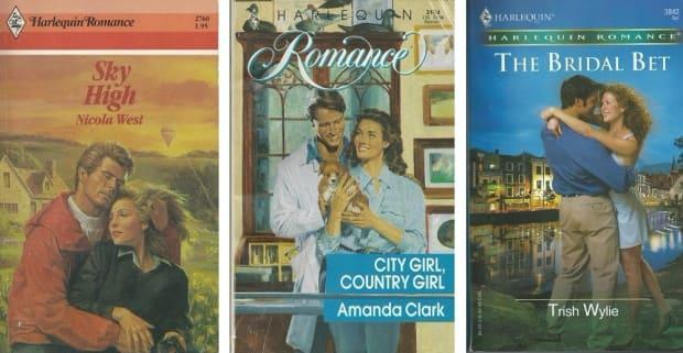 Harlequin Romance imprint covers were used in a new study by Halifax researchers Maryanne Fisher and Tami Meredith.