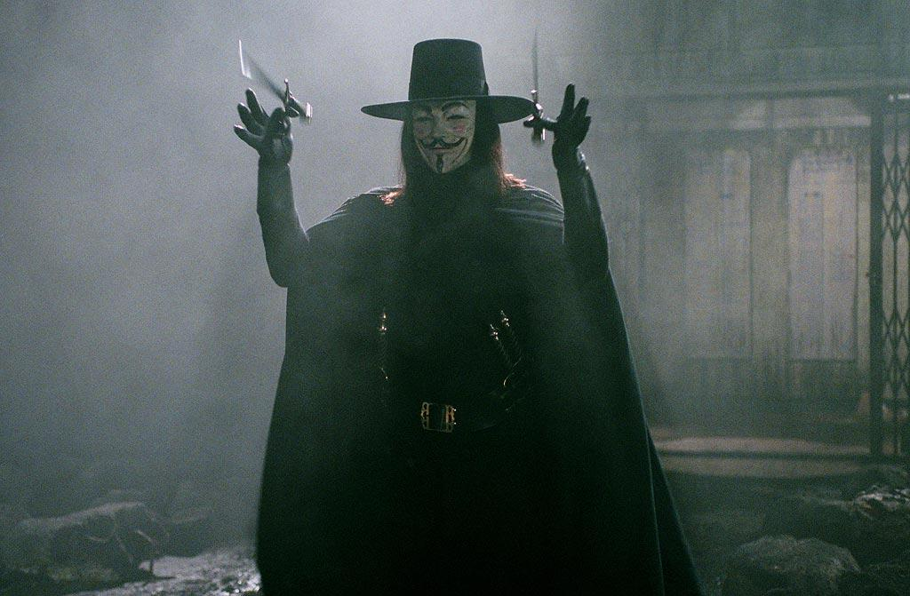 "22. <a href=""http://movies.yahoo.com/movie/1808632423/info"">V FOR VENDETTA</a>   Based on the graphic novel written by <a href=""http://movies.yahoo.com/movie/contributor/1800191119"">Alan Moore</a> (creator of the upcoming <a href=""http://movies.yahoo.com/movie/1808406490/info"">Watchmen</a>), ""V for Vendetta"" presents a totalitarian England in the near future where the only hope for freedom is a masked, potentially psychotic anarchist."