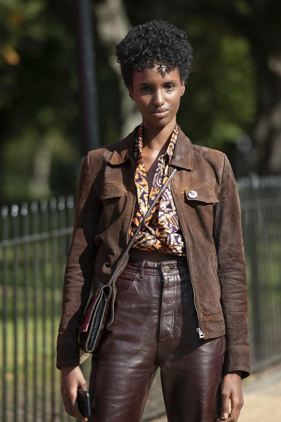 "<p>Scouted in London at age 16, Kenyan-born Abdulkadir began modelling after completing her Bachelor's degree in Pharmacology. </p><p>She has walked for <a href=""https://www.elle.com/uk/fashion/g26023803/roksanda-outnet-capsule-collection/"" rel=""nofollow noopener"" target=""_blank"" data-ylk=""slk:Roksanda"" class=""link rapid-noclick-resp"">Roksanda</a>, <a href=""https://www.elle.com/uk/fashion/what-to-wear/longform/a41379/simone-rocha-interview/"" rel=""nofollow noopener"" target=""_blank"" data-ylk=""slk:Simone Rocha"" class=""link rapid-noclick-resp"">Simone Rocha</a> and<a href=""https://www.elle.com/uk/fashion/what-to-wear/news/a32694/where-to-get-ashishs-iconic-immigrant-t-shirt/"" rel=""nofollow noopener"" target=""_blank"" data-ylk=""slk:Ashish"" class=""link rapid-noclick-resp""> Ashish</a>, and also runs Instagram book club <a href=""https://www.instagram.com/bibisbooks/"" rel=""nofollow noopener"" target=""_blank"" data-ylk=""slk:@bibisbook"" class=""link rapid-noclick-resp"">@bibisbook</a>, a platform that celebrates and amplifies Black authors and literature.</p>"