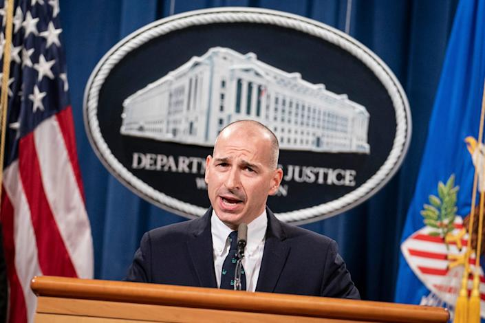 Michael Sherwin, Deputy US Attorney for Washington, DC, spoke at a press conference at the US Department of Justice on January 12, 2021.