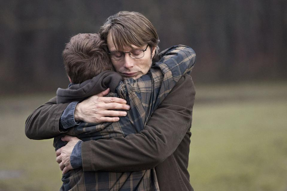 Mads Mikkelsen in a still from Thomas Vinterberg's 2012 film The Hunt. (Zentropa)