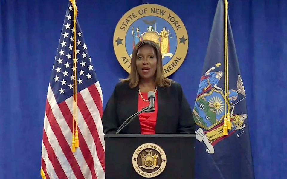 New York State Attorney General Letitia James addresses a news conference - NY State Attorney General