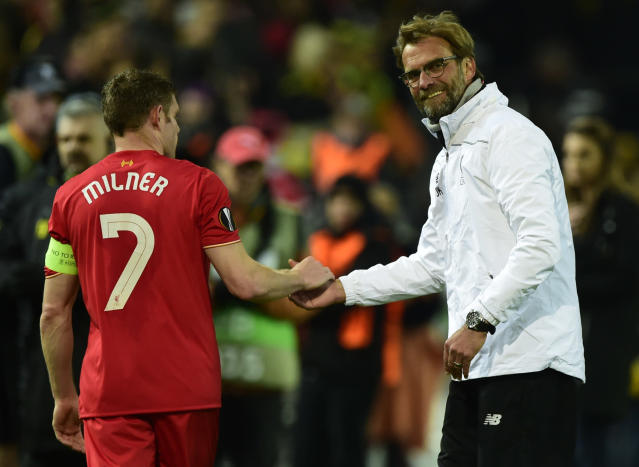Jurgen Klopp believes James Milner can play for Liverpool until his late thirties.