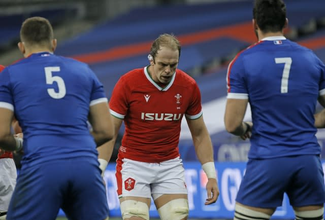 Alun Wyn Jones during his 148th international appearance, for Wales against France