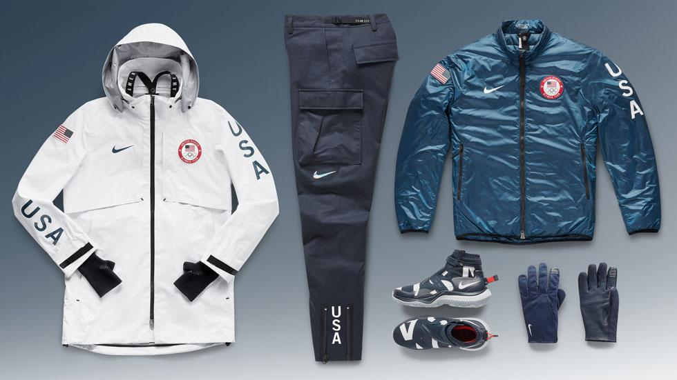 <p>Designed by Nike, this uniform features a Gore-Tex waterproof coat with attached knit hand warmers, removable bomber jacket, waterproof pants, lace-less boots, and insulated gloves. (Photo: courtesy of Nike) </p>