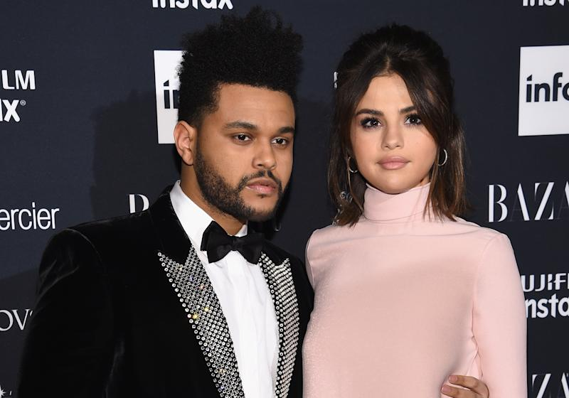 The Weeknd and Selena Gomez pictured together in Sept. 2017.