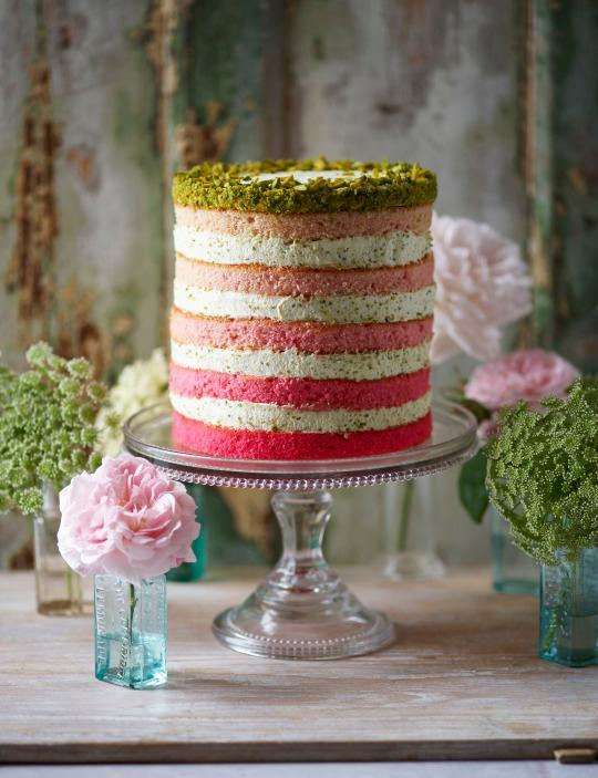 Cake of the Day: Pistachio Naked Layer Cake