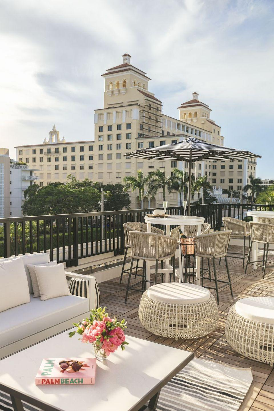 """<p>Lovers of the namesake Nantucket hotel will be thrilled to discover the White Elephant now has a second location in the heart of Palm Beach. <a href=""""https://www.whiteelephantpalmbeach.com/"""" rel=""""nofollow noopener"""" target=""""_blank"""" data-ylk=""""slk:White Elephant Palm Beach"""" class=""""link rapid-noclick-resp"""">White Elephant Palm Beach</a> offers the best of Palm Beach living in a 1924 building that has undergone a five-star renovation and features a lush outdoor pool and courtyard, a buzzy rooftop bar, and plenty of exciting activities to make the most of your South Florida vacation. Plus, the property houses another Nantucket favorite in LoLa 41, a chic sushi restaurant, and cocktail bar. </p>"""