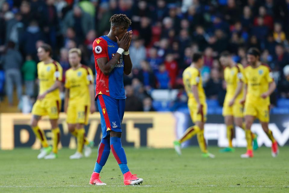 Crystal Palace's talisman could miss out on a return against Chelsea
