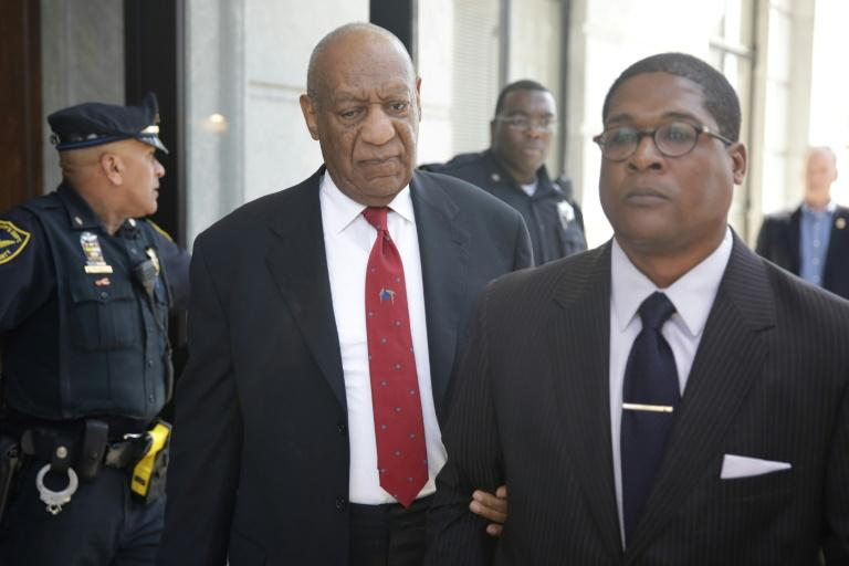 Actor and comedian Bill Cosby (C) is to be sentenced September 24-25 after being found guilty of three counts of sexual assault
