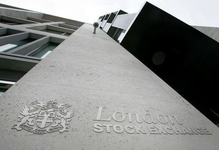The outside of the London Stock Exchange building is seen in the City of London, March 7, 2005. REUTERS/Toby Melville