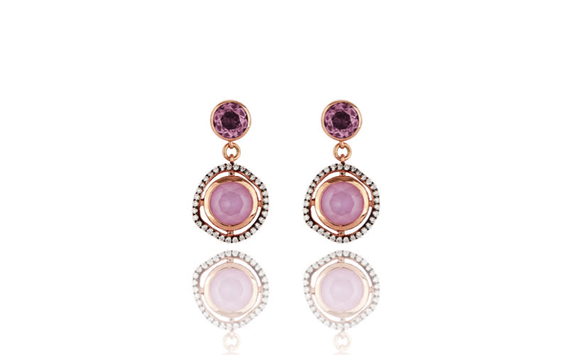 "<p>Lark & Berry Dark Halo Sapphire Drop Earrings, <a href=""https://larkandberry.co.uk/collections/all-jewellery/products/dark-halo-sapphire-drop-earrings"" rel=""nofollow noopener"" target=""_blank"" data-ylk=""slk:825.00 from Lark & Berry"" class=""link rapid-noclick-resp""><em>825.00 from Lark & Berry</em></a> </p>"