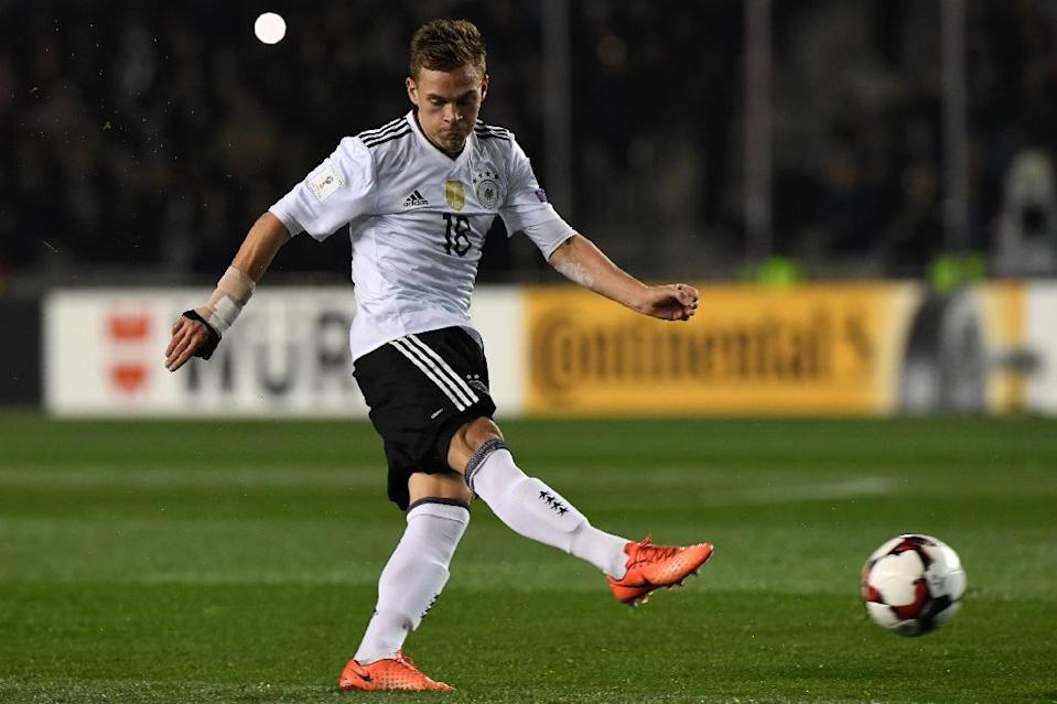 Germany's Joshua Kimmich can play in either midfield or defence but is rarely used for the full 90 minutes at Bayern Munich (AFP Photo/Kirill KUDRYAVTSEV)