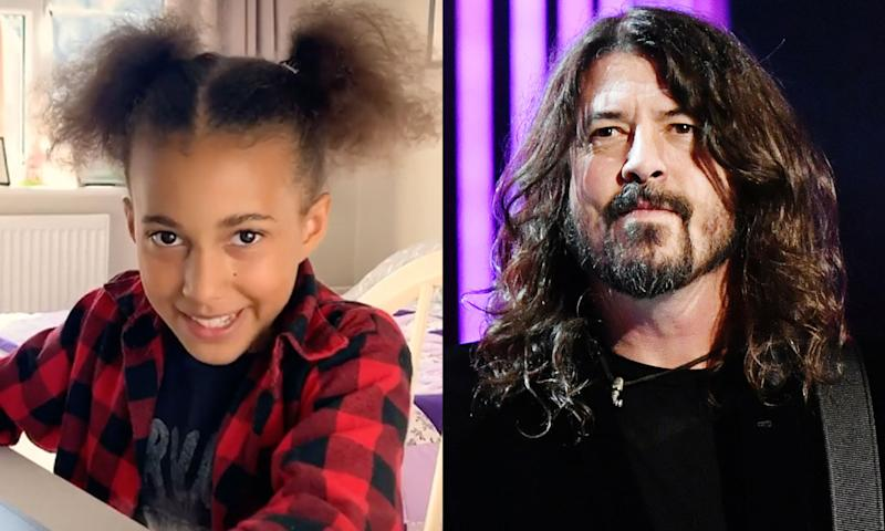 Dave Grohl wrote a theme song for young rocker Nandi Bushell. (Photo: Nandi Bushell via Instagram/Getty Images)