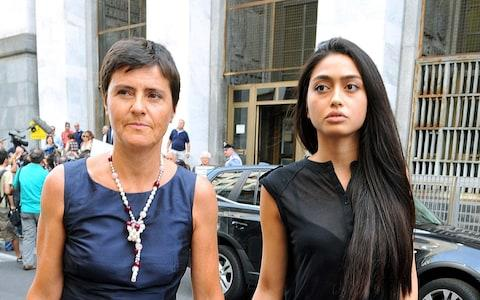 Ambra Battilana Gutierrez accused the Hollywood producer of groping her breasts during a 'business meeting' - Credit: REX