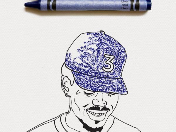 Color Your Own Chance The Rapper Coloring Book Cover Art