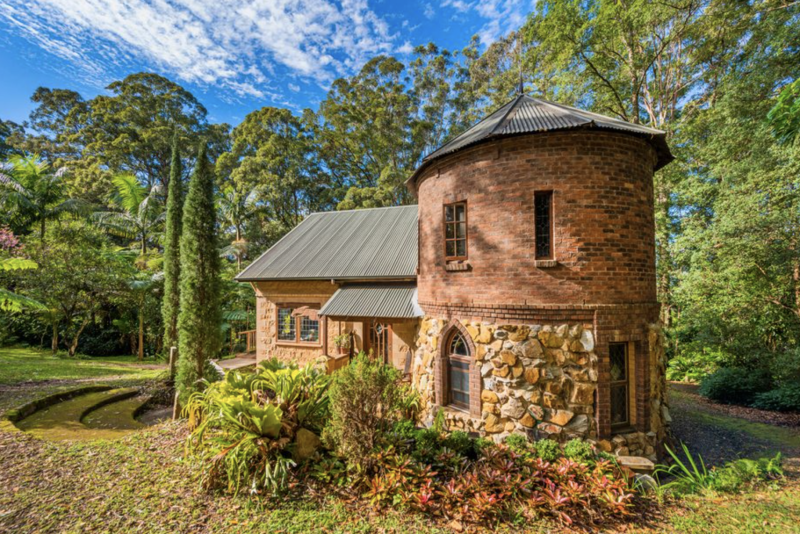 A home near the NSW town of Bellingen is up for sale and boasts a castle-like appearance. Source: Realestate.com