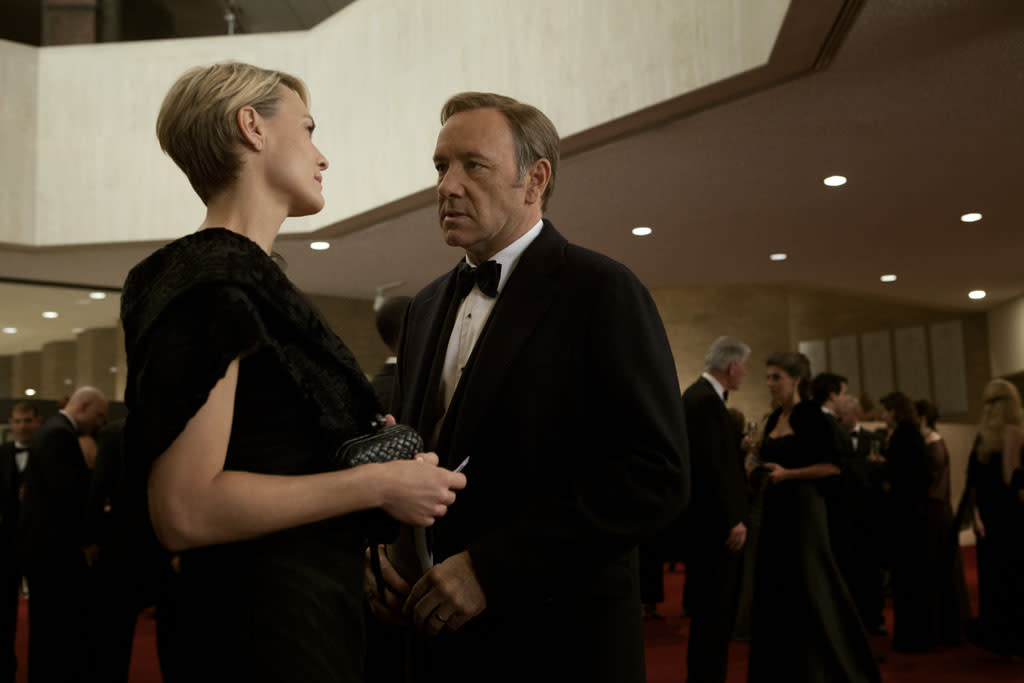 "Kevin Spacey and Robin Wright in the ""House of Cards"" Season 1 episode, ""Chapter 1."""