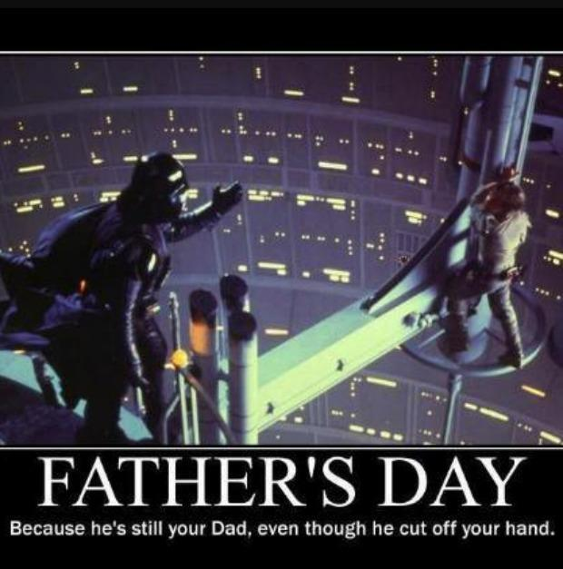 Because he's still your Dad, even though he cut off your hand.