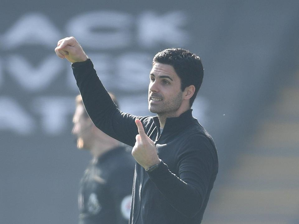 Arsenal manager Mikel Arteta (Arsenal FC via Getty Images)