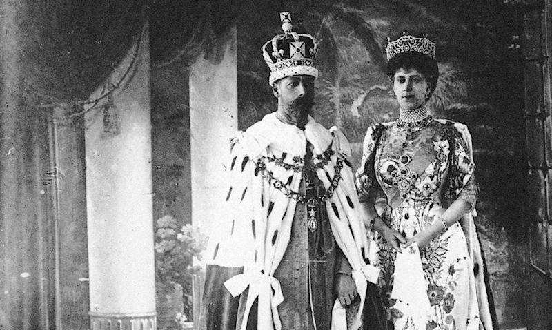 King George V and Queen Mary in their coronation robes, 1911.