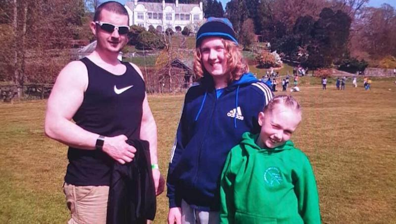 Joshua James Flynn aged 37, and his son Coby-Jay Flynn aged 15 and daughter Skylar Flynn. (Cumbria Police)