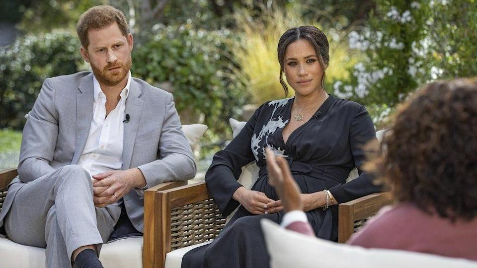 """Oprah With Meghan and Harry: A CBS Primetime Special"" aired on Sunday."