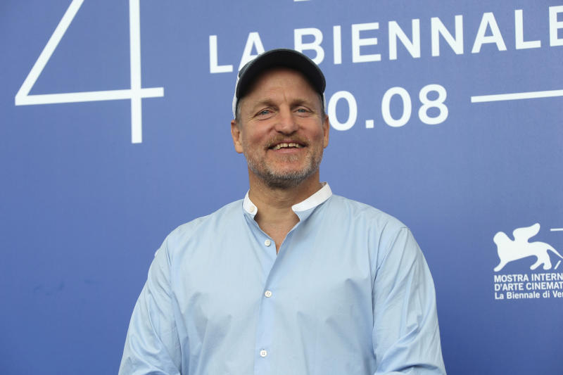 "FILE - In this Sept. 4, 2017, file photo, actor Woody Harrelson poses for photographers at the photo call for the film ""Three Billboards Outside Ebbing, Missouri"" during the 74th edition of the Venice Film Festival in Venice, Italy. Georgetown University's Center on Privacy and Technology published a report Thursday, May 16, 2019, on what it says are flawed practices in law enforcement's use of facial recognition. The report says the New York Police Department used a photo of Harrelson in its facial recognition program in an attempt to identify a beer thief who looked like the actor. (Photo by Joel Ryan/Invision/AP, File)"