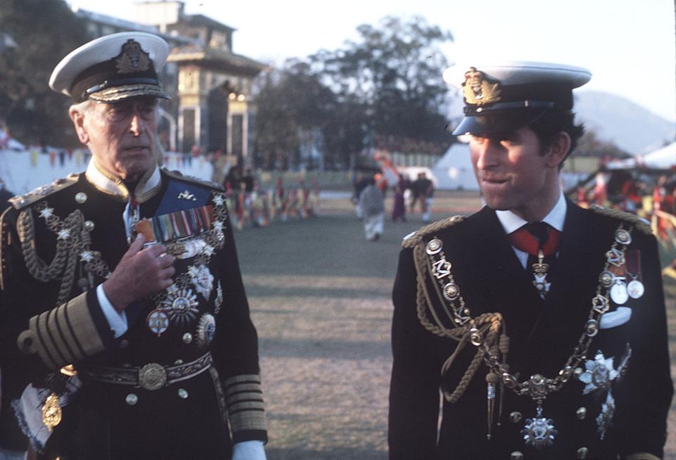 Prince Charles and his great uncle Louis Mountbatten