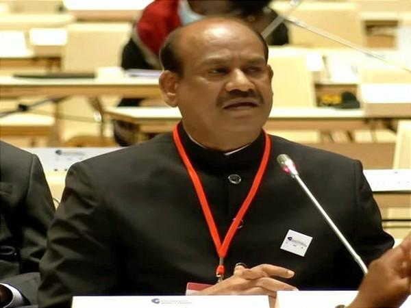 Lok Sabha speaker Om Birla at the Fifth World Conference of Speakers of Parliament in Vienna (Photo/ANI)