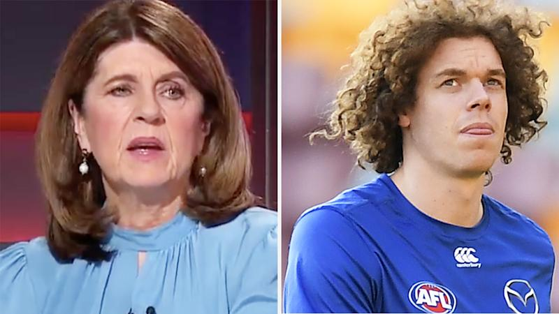 a 50-50 split image shows Caroline Wilson on the left and Ben Brown on the right.