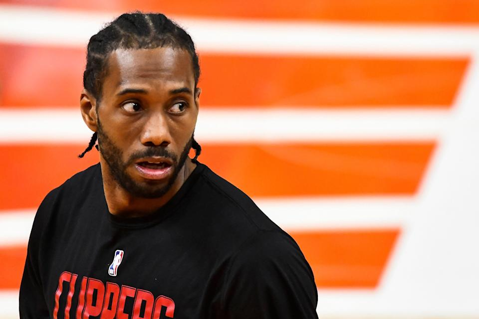 Kawhi Leonard isn't likely to play this season after suffering an ACL tear in the postseason, but he won't rule out a return.