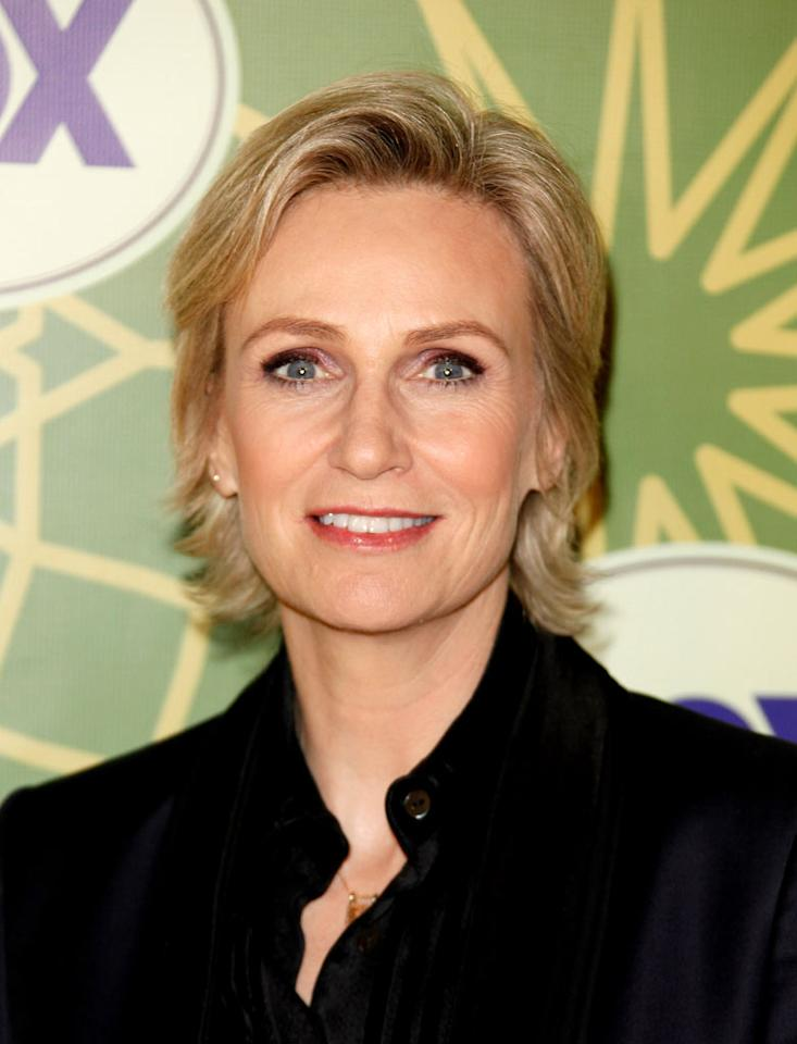 "<a href=""/jane-lynch/contributor/660460"">Jane Lynch</a> (""<a href=""/glee/show/44113"">Glee</a>"") attends the 2012 Fox Winter TCA All-Star Party at Castle Green on January 8, 2012 in Pasadena, California."