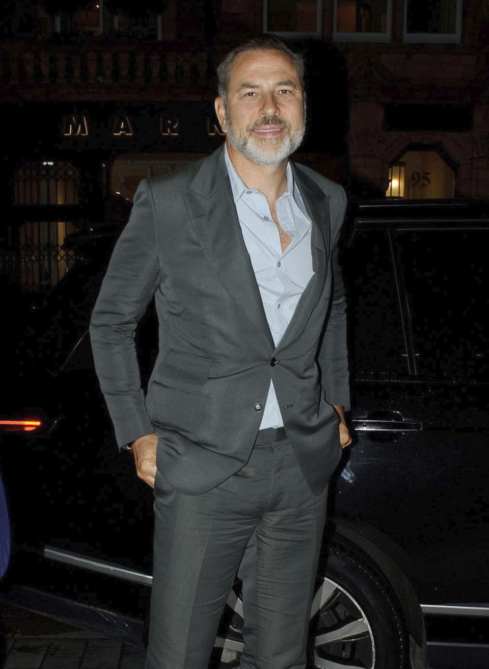 Photo by: zz/KGC-81/STAR MAX/IPx 2020 9/3/20 David Walliams is seen arriving at Scott's Seafood Restaurant in Mayfair, London, England, UK.