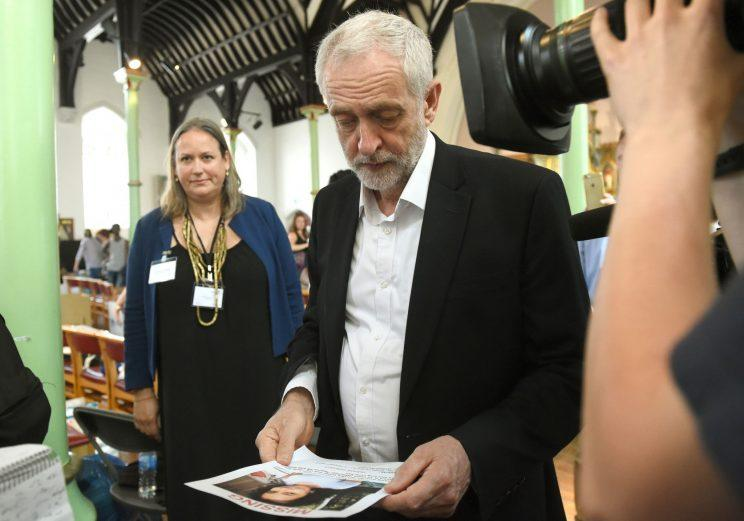 Jeremy Corbyn meeting survivors of the Grenfell tower tragedy last week.