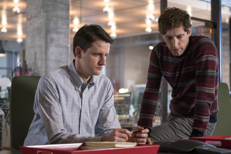 "Zach Woods and Thomas Middleditch as Jared Dunn and Richard Hendricks in ""Silicon Valley"". (Photo: HBO)"
