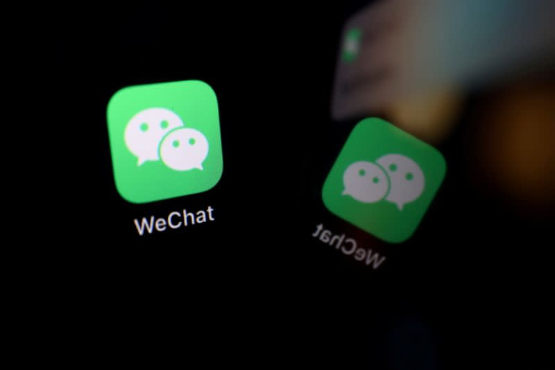 FILE PHOTO: Illustration picture of WeChat app