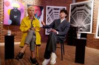 MINO and KANG SEUNG YOON attend an interview with Reuters at a cafe in Seoul